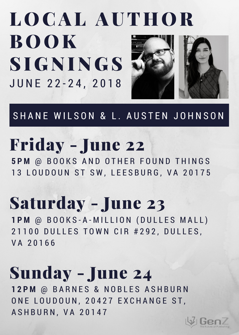 Book Signing Events with Shane Wilson and L  Austen Johnson